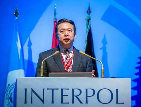 Kiinan mukaan Meng Hongwei on ottanut lahjuksia.