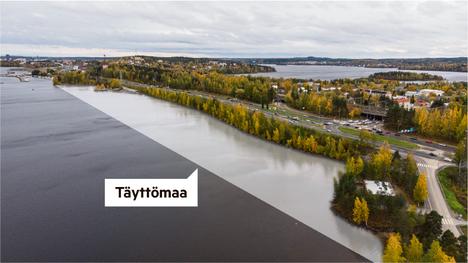 Tampereen ratikkaa on kakkosvaiheessa suunniteltu osan matkaa täyttömaalle Näsijärven päälle Paasikiventien varrella.
