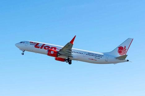 Onnettomuuskone oli tyypiltään Boeing 737 MAX 8. Kuvassa Lion Airin 737 MAX 9 -kone, joka on rungoltaan hieman pidempi ja matkustajakapasiteetiltaan suurempi kuin turmakone, mutta muuten kyseessä on teknisesti hyvin samankaltainen matkustajakone.