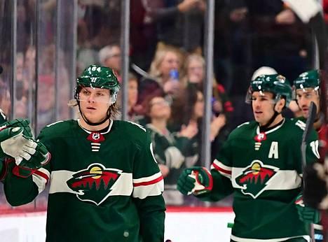 Minnesotan Mikael Granlund iski voittomaalin Edmontonia vastaan pelatussa ottelussa.