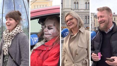 """Kysyimme tamperelaisilta, paljonko he tienaavat. Katugallupiin osallistuivat esimerkiksi perheenäiti Teija Tammikumpu, """"hevipeikko"""" Timpsa Rokrok, toimitusjohtaja Piia Pursiainen ja linja-autonkuljettaja J-P Virtanen."""