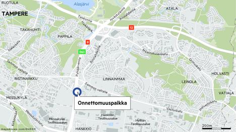Ramppikolari ruuhkauttaa nopeasti liikennettä. Niin myös torstaina iltapäivällä Linnainmaan rampin kohdalla ysitiellä Tampereella.