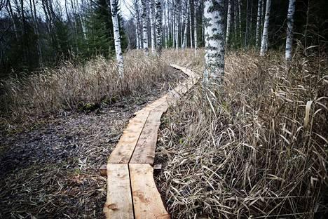 Kierrokselle tulee pituutta vajaat kaksi kilometriä, ja polku sijoittuu osan matkasta luonnonsuojelualueelle.