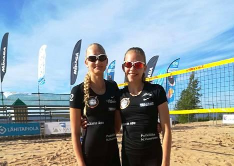 Beach volleyhin keskittyvät Vilhelmiina Prihti ja Aliisa Vuorinen pelasivat hienon turnauksen viikonloppuna Ruotsissa.