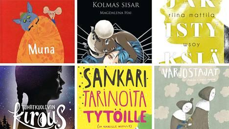 Kuusi kirjaa kisaa lasten- ja nuortenkirjallisuuden Finlandiasta. Voittajan valitsee Riku Rantala.