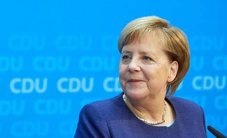 Angela Merkel on Helsingissä.