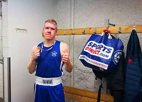 Vilppulan Nyrkkeilijäin Tero Kytölä voitti vastustajansa Tampereella puhtaasti 3-0.