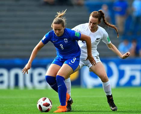 Jenna Topra tai muutkaan suomalaiset eivät onnistuneet maalinteossa Uutta-Seelantia vastaan.
