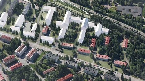 Uusia asuinkerrostaloja, joiden kerrosluku vaihtelee neljästä kuuteen, tulee yhteensä 12.