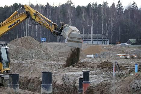 Roholan 200 tontin omakotialueen kunnallistekniikan rakentaminen on käynnissä Pälkäneellä.