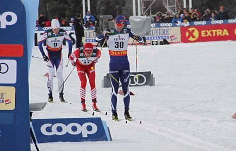 Ristomatti Hakola, numero 30, oli Rukan normaalimatkalla toiseksi paras suomalainen.