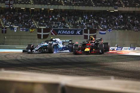 Valtteri Bottas ja Max Verstappen kolaroivat kevyesti sen jälkeen, kun Verstappen oli ohittanut nastolalaisen.