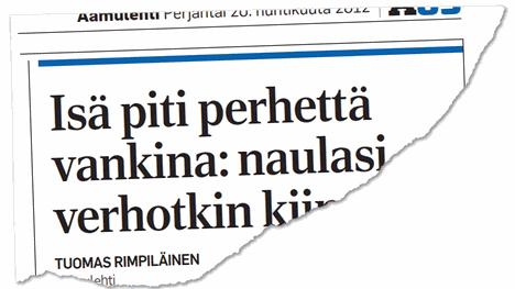 Aamulehti uutisoi murhasta epäillyn isän rikoksista vuonna 2012.