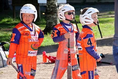 Kankaanpään Maila on yksi lahjoituksen saaneista seuroista. Kuvassa seuran G-junioreita viime kesänä pelatussa pelissä.