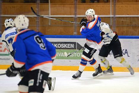 Kiekko-Ahman Eero Salmela onnistui hienosti maalinteossa, ja laukoi viikonlopun kahdessa pelissä peräti viisi maalia.