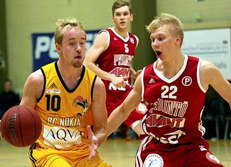Ville Tuominen pelaamassa divaria BC Nokian edustusjoukkueessa keväällä 2014.