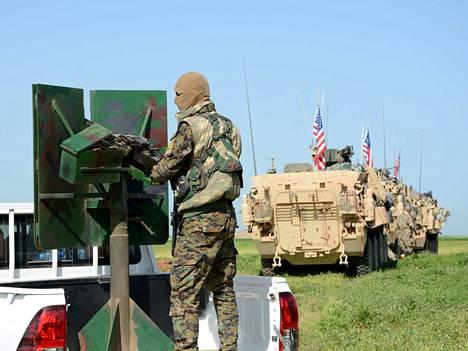 Yhdysvaltain armeija on tukenut Syyriassa pääasiassa kurdijohtoisia SDF-joukkoja