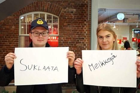 Sami Harjusen ja Pihla Hoiskon toivelistalta löytyy muun muassa suklaata ja meikkejä.