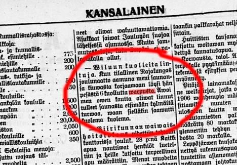 Vaikka Suomessa elettiin kovia aikoja talvella 1907, varpusten kohtalo ylitti uutiskynnyksen.