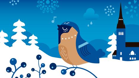 Zacharias Topeliuksen runojen ansiosta pikkulinnut kuuluvat suomalaiseen jouluun myös lauluissa.