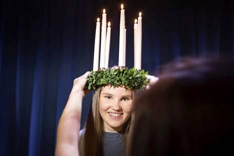 Alexandra Joukanen oli vuoden 2018 Lucia Porissa.