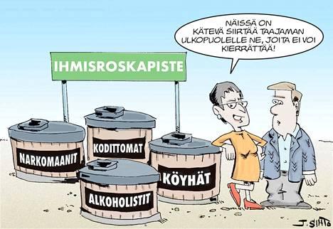 Oululainen poliitikko kohautti kutsumalla kaupungin keskustaa kansoittavaa väkeä ihmisroskiksi.