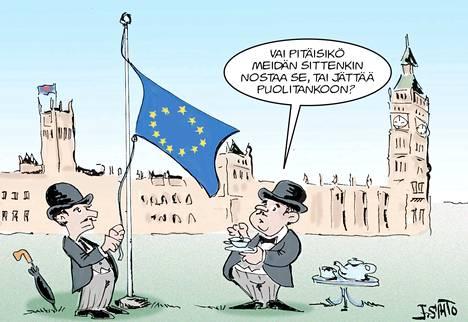 Britannian ero EU:sta on ollut yhtä soutamista ja huopaamista.