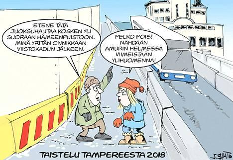 Tampereen keskustan myllerys jatkui koko vuoden.