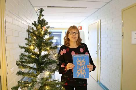 Harjavallan virallisessa viestinnässä käytetään tänä vuonna kaupungin juhlavuoden logoa, kertoo juhlatoimikunnan puheenjohtaja Pirjo-Riitta Tuomela.