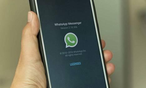 Whatsapp-pikaviestisovellus on Facebookin omistama. Kuvituskuva.