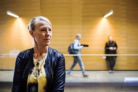 Arabianrannan lapsenmurhan tutkinnanjohtaja Kirsi Kanth vangitsemisoikeudenkäynnissä Helsingin käräjäoikeudessa 28. joulukuuta.
