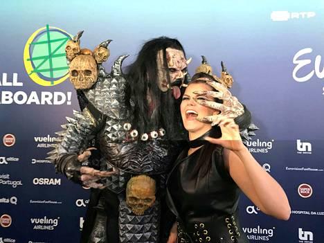 Viime vuonna Saara Aalto edusti Suomea euroviisuissa. Häntä kannusti Lissabonissa myös Suomen ainoa euroviisuvoittaja Lordi.