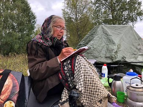 Leena Kiviharju kuvattiin Jämsässä aiemmin syksyllä. Tuolloin hän kertoi etsivänsä asuntoa talveksi.