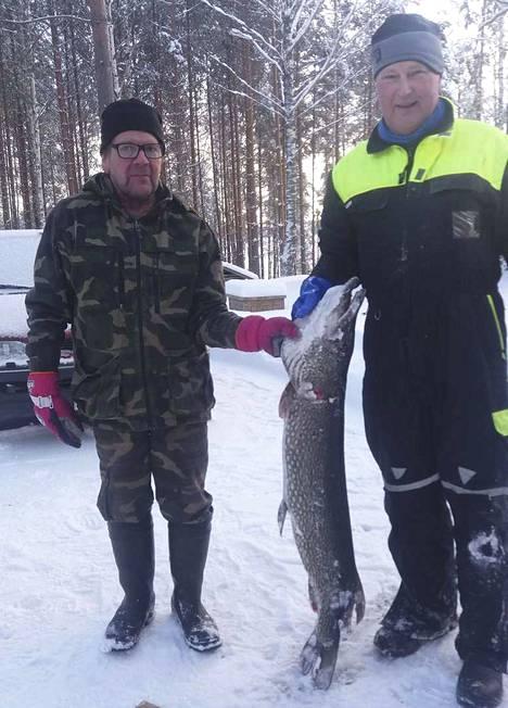 Kalakaverina mukana oli Juha Parkkonen (vas.).