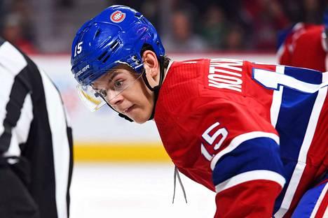 Montreal Canadiensin suomalaispelaaja Jesperi Kotkaniemi onnistui ottelussa Coloradoa vastaan ja teki joukkueensa kolmesta maalista yhden.