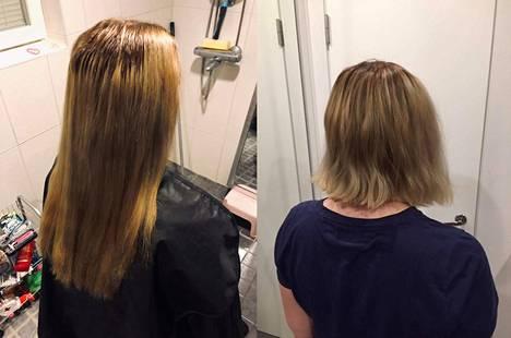 Ulvilalainen Sini Soininen lahjoitti 22 senttiä hiuksiaan Little Princess Trust -järjestölle.