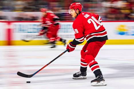 Sebastian Aho teki NHL-uransa toisen hattutempun.
