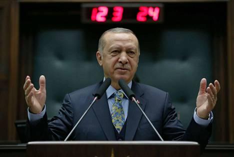 Receep Tayyip Erdogan on ollut Turkin presidentti vuodesta 2014 alkaen.