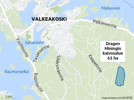Kaapelinkulman kultakaivos sijaitsee lähellä asutusta.