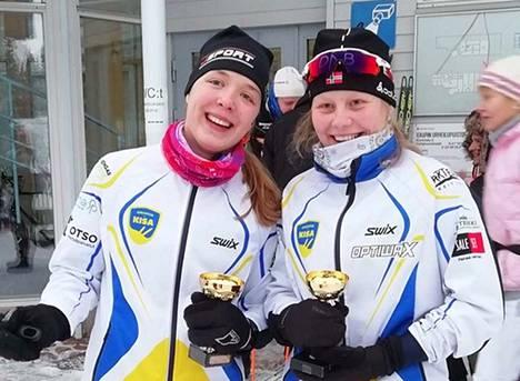 Kankaantaan Kisan hiihtäjät Aino Pihlava ja Julia Junkkala edustavat Suomea nuorten Pohjoismaiden mestaruuskisoissa Viron Otepäässä tammikuun lopussa.