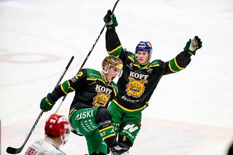 Jatkoaikamaalia tuulettanut Arttu Ruotsalainen nosti kauden pistesaldonsa 16+17=33:een.