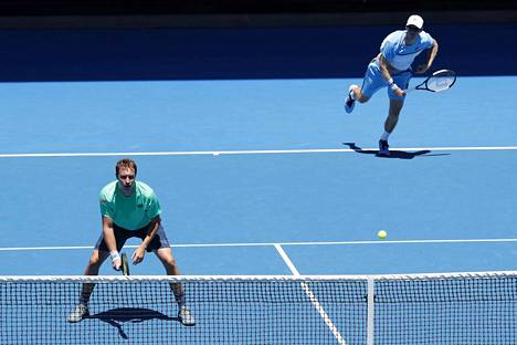 Henri Kontinen (vas.) ja John Peers ottelevat seuraavaksi grand slam -voitosta Australiassa.