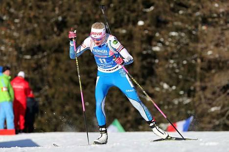 Kaisa Mäkäräinen kilpaili tänä viikonloppuna Italiassa Etelä-Tirolin Anterselvassa.