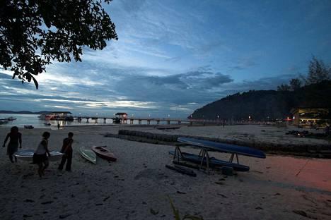 Pulau Tioman on suosittu turistikohde. Kuvituskuva.