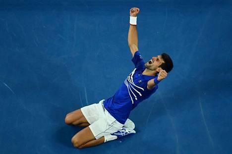Novak Djokovicin seitsemäs Australian avointen voitto ja 15. Grand Slam -voitto oli ratkennut.