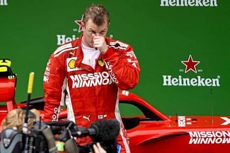 Kimi Räikkönen ei jäänyt surkuttelemaan Ferrarin päätöstä.