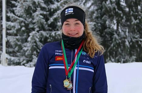Heta Virtanen ei ole itse suoritukseensa täysin tyytyväinen, vaikka palkinnoksi tuli ensimmäinen voitto edustustehtävissä.