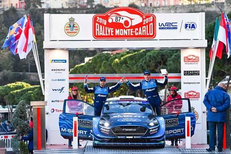 Marko Salminen ja Teemu Suninen sijoittuivat Monte Carlon rallissa sijalle 11.