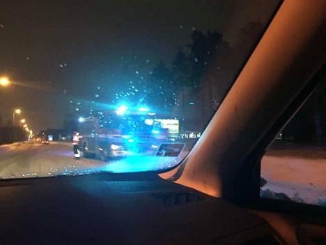 Palopaikan kohdalla sattui aamuliikenteessä kaksi onnettomuutta.