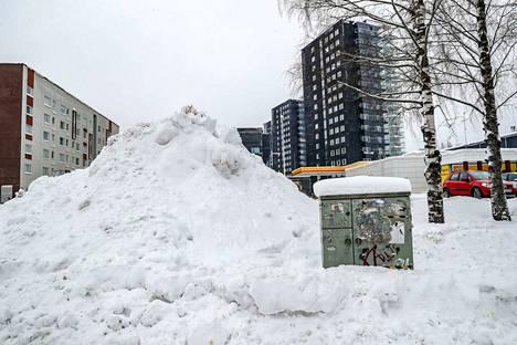 Lunta on kertynyt 1. helmikuuta mennessä 10 senttiä enemmän kuin tähän aikaan vuodesta keskimäärin. Keskustassa lunta on vaikeaa saada mahtumaan mihinkään.